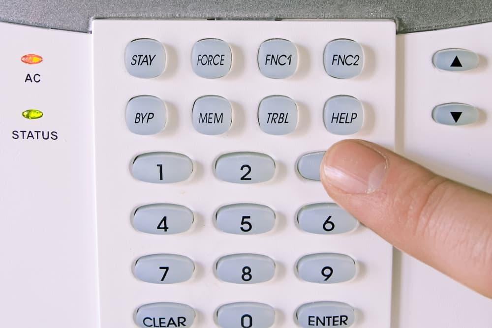 Teclado de alarmas sin conexión