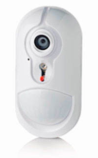 Sensor de alarma con cámara de vídeo