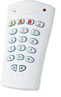 Es un teclado portátil e inalámbrico, válido para los sistemas de alarmas Visonic PowerG, a través de este teclado se puede proceder a armar y desarmar el equipo, está preparado para el envió de señales de emergencia, incendio y pánico.